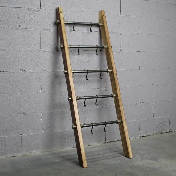 Furniture Pipeline Williston Farmhouse Industrial Decorative Ladder. Opens flyout.