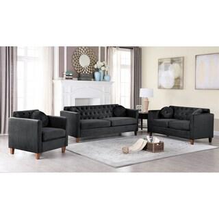 Persaud velvet Kitts Classic Chesterfield Loveseat/Chair Set