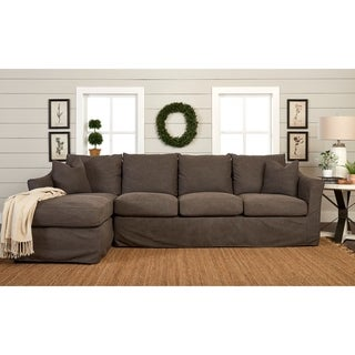 Copper Grove Deventer Left-facing Sofa Chaise Sectional with Slipcover
