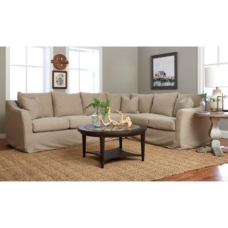 Copper Grove Deventer Right-facing L-shaped Sectional with Slipcover