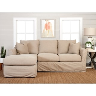 Copper Grove Deventer Left-facing Loveseat Chaise Sectional with Slipcover