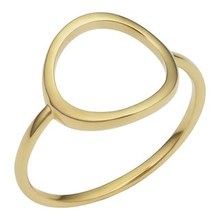 Link to 14k Yellow Gold Open Circle Ring Minimalist Jewelry for Women Similar Items in Rings