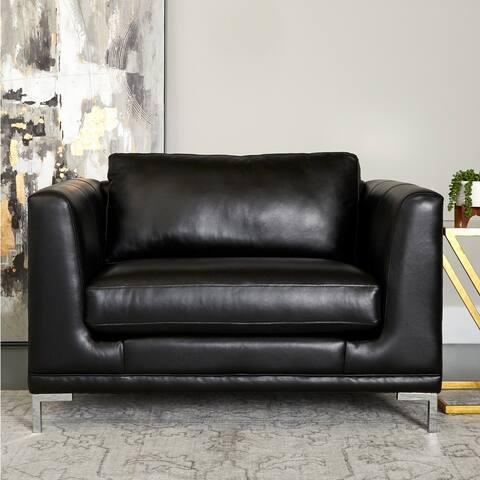 Copper Grove Blokzijl Oversize Leather Chair