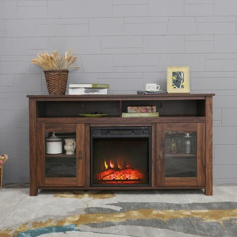 Carbon Loft LaFrancis TV Stand with Electric Fireplace