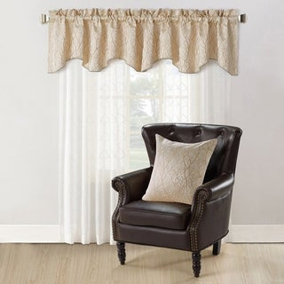 Copper Grove Hoorn Jacquard Valance and Pillow Sham 2-piece Set with Branch Pattern