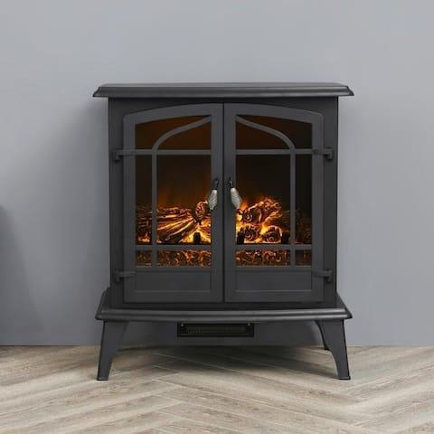 LOKATSE HOME Indoor Electric Freestanding Heater Fireplace