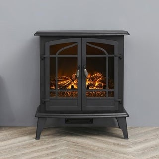 LOKATSE HOME Indoor Electric Freestanding Heater Fireplace