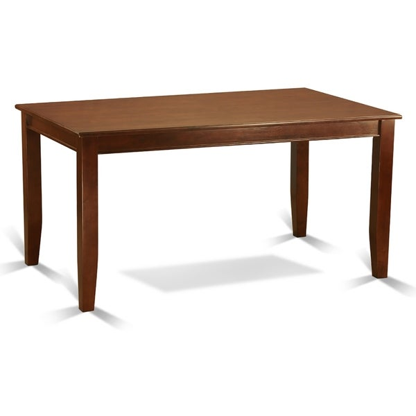 Rectangle Table Table and Parson Chairs in Brown Linen Fabric (Number of Chairs and bench Option)