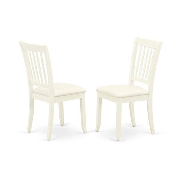 Rectangle Table and Parson Chairs in White Linen Fabric (Number of Chairs Option)