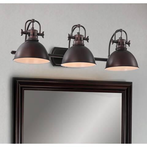 Carbon Loft Farris Bronze 3-light Wall Sconce