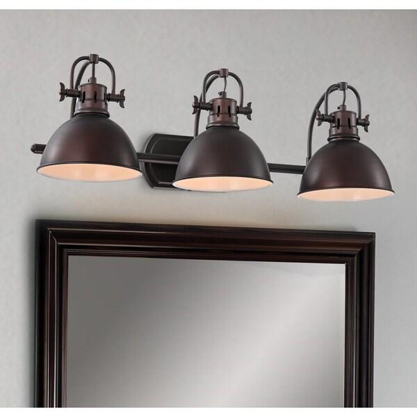 Carbon Loft Farris Bronze 3-light Wall Sconce. Opens flyout.