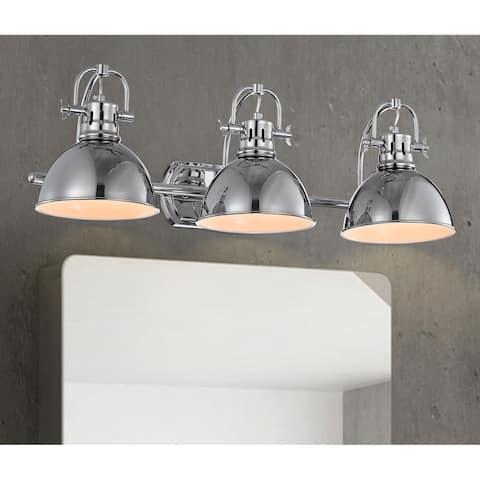 Carbon Loft Workman Chrome 3-light Wall Sconce