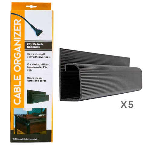 5 Channel Desk Cable Organizer by Maxwell Supply