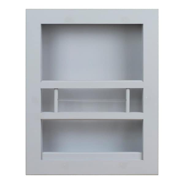Hayden Recessed in wall Bathroom Magazine Rack - N/A