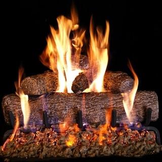 """RH Peterson Real Fyre 64-YE 24"""" Live Oak Vented Burner and Log Match Light Sysem"""