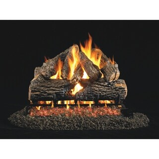 RH Peterson Real Fyre Charred Series Charred Oak 18/20 inch Vented Gas Logs Log Only - N/A
