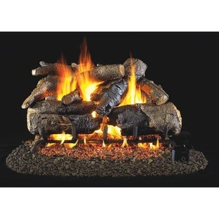 RH Peterson Real Fyre Charred Series Charred American Oak 24 Vented Gas Logs inch Logs Only
