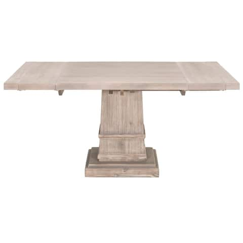 Harlan Square Extension Dining Table, Natural Gray
