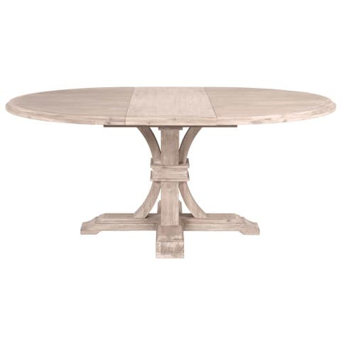 Darby Round Extension Dining Table, Natural Gray