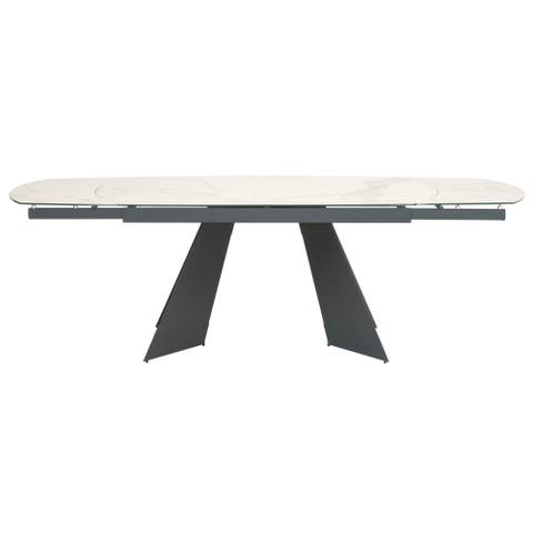 Orion Matte Dark Gray Dining Table