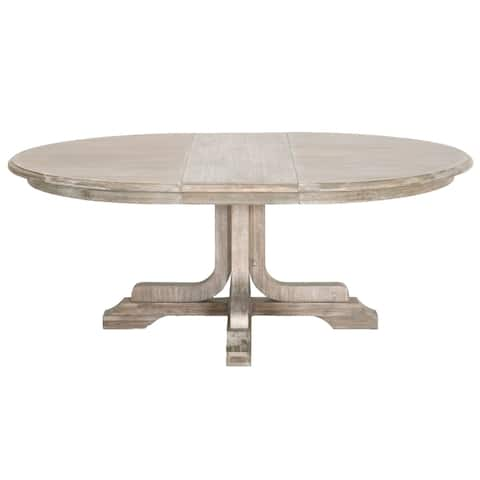 Bonnie Round Extension Dining Table, Natural Gray
