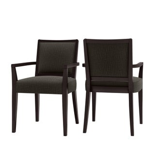 Link to Copper Grove Olin Upholstered Espresso Finish Arm Dining Chairs (Set of 2) Similar Items in Dining Room & Bar Furniture