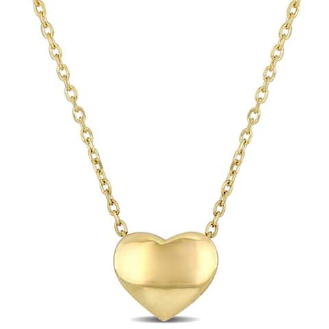 Miadora 14k Yellow Gold Heart Charm Necklace