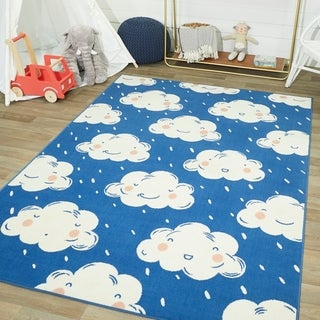 Mod-Tod Happy Clouds Kids Rug