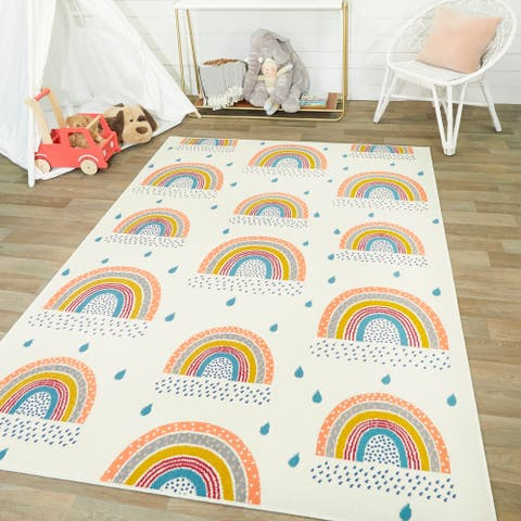 Mod-Tod Chasing Rainbows Kids Rug