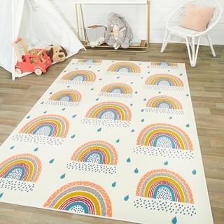 Mod-Tod Chasing Rainbows Kids Rug