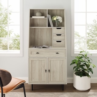 Carson Carrington Modern Desk & Hutch Cabinet
