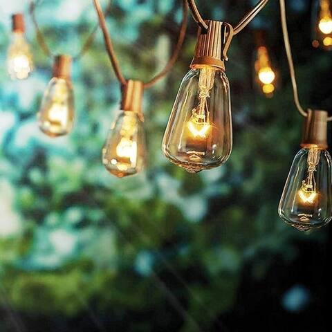 ALEKO Outdoor/Indoor Traditional Weatherproof Patio String Cafe Lights 25 Feet