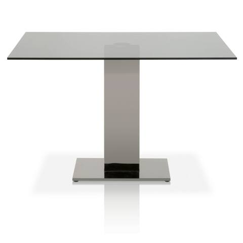 Traci Smoke Gray Glass Dining Table