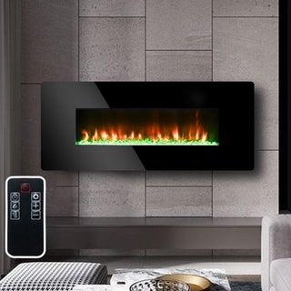 Indoor Desktop & Wall-Mount Dual Use Electric Heater Fireplace