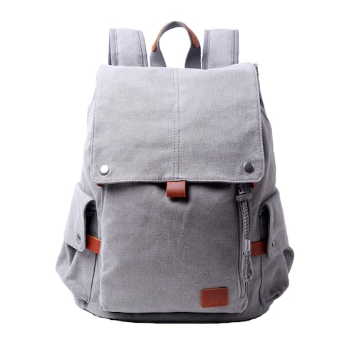TSD Brand Sunset Valley Canvas Backpack