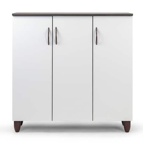 Anthea Three-door Shoe Cabinet with Four Shelves