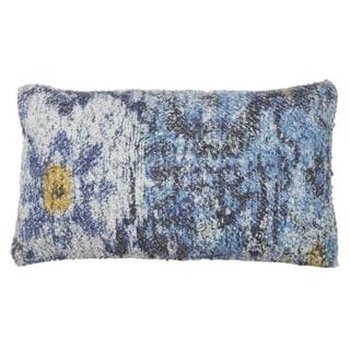Distressed Rug Design Throw Pillow