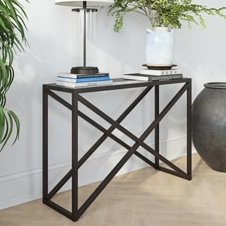 Calix Console Table in Blackened Bronze