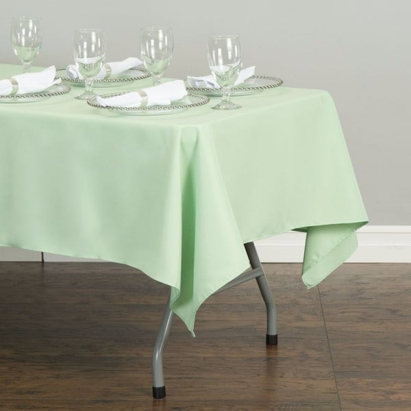 "Polyester Rectangle Tablecloth 60"" x 126"" Hemlock"