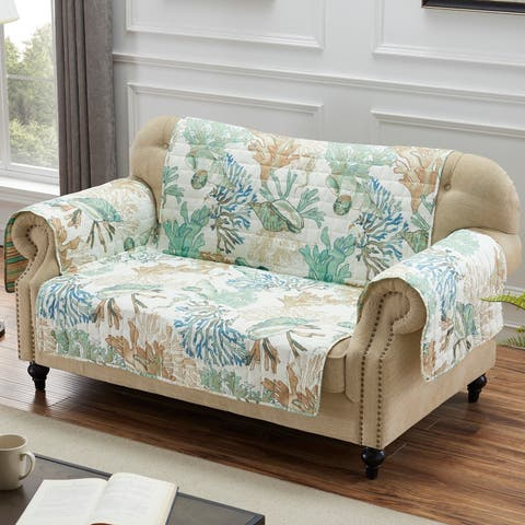 Barefoot Bungalow Atlantis Jade Furniture Protector, Loveseat - Couch