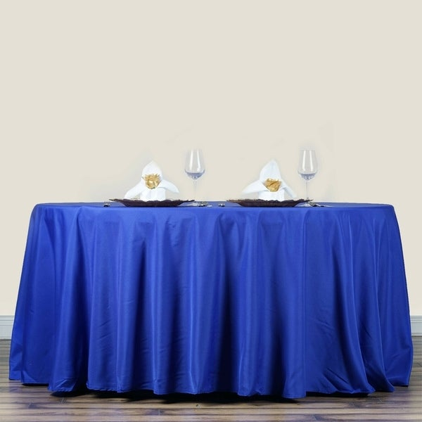 """Polyester Round Tablecloth 70"""" Royal Blue"""