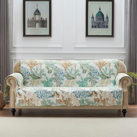 Porch & Den Gwinn Green Sofa Protector
