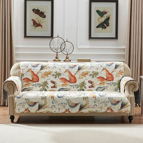 Porch & Den Morilon Forest Wildlife Reversible Sofa Protector