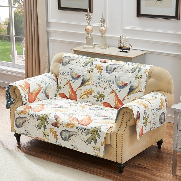 Porch & Den Morilon Forest Wildlife Reversible Loveseat Protector - 103 x 76 inches. Opens flyout.