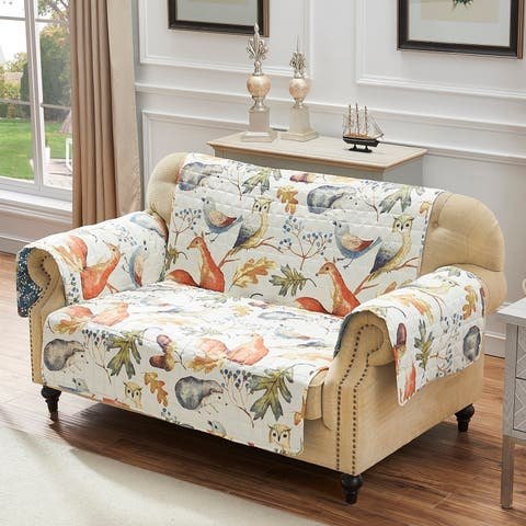 Barefoot Bungalow Willow Reversible Furniture Protector, Loveseat - Couch