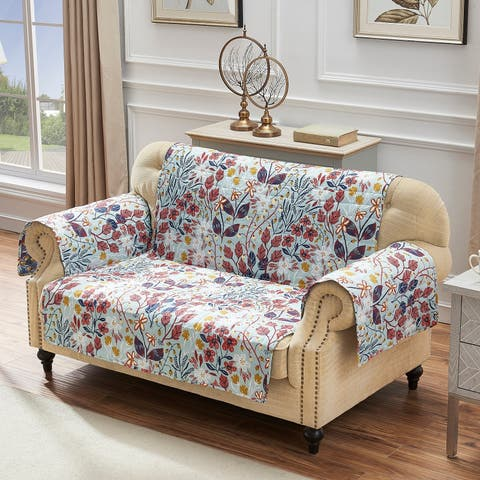 Barefoot Bungalow Perry Reversible Furniture Protector, Loveseat - Couch