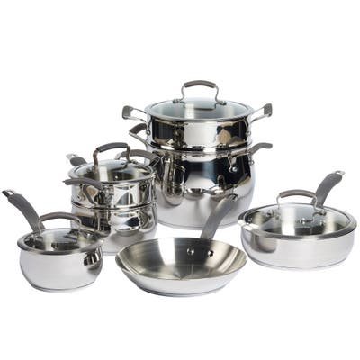 Epicurious 11Pc Stainless Steel Cookware Set