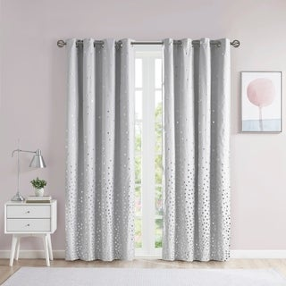 Link to Liv Total Blackout Printed Metallic Single Window Panel by Intelligent Design Similar Items in Curtains & Drapes