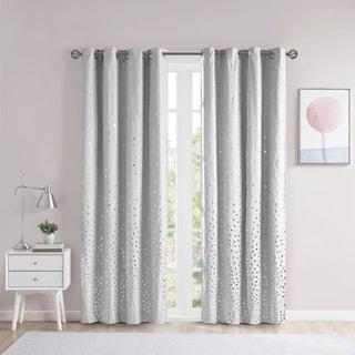Intelligent Design Liv Grey/ Silver Total Blackout Printed Metallic Window Panel