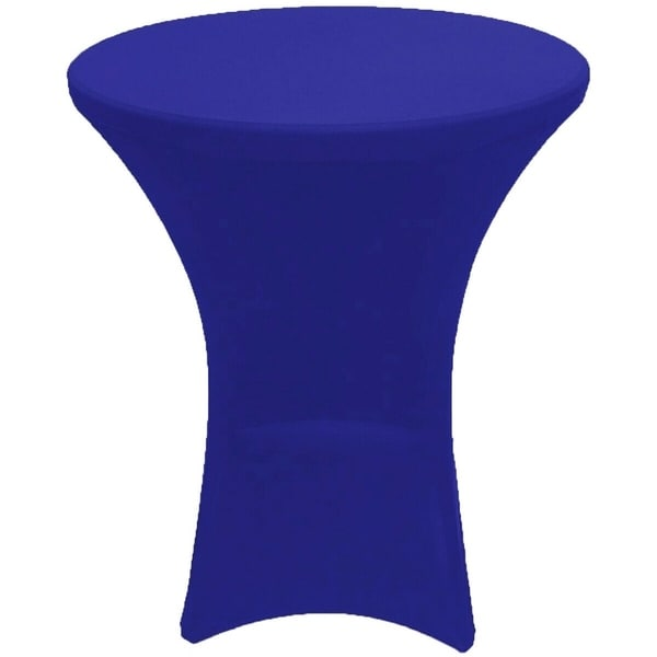 "Cocktail Spandex Fitted Stretch Tablecloth 24"" x 43"" Royal Blue"